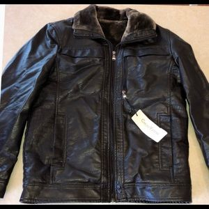 🌻Chouyatou szS NWT faux leather furlined bomber🌻
